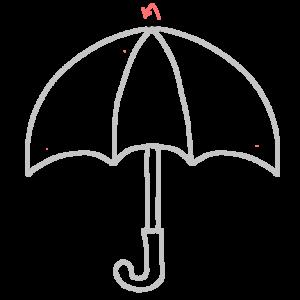 開いた傘のボールペンイラストのおしゃれな描き方