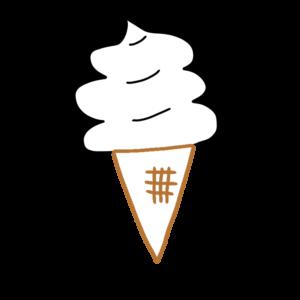 ソフトクリームのボールペンイラストのかわいい書き方