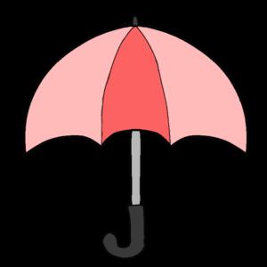 傘のボールペンイラスト