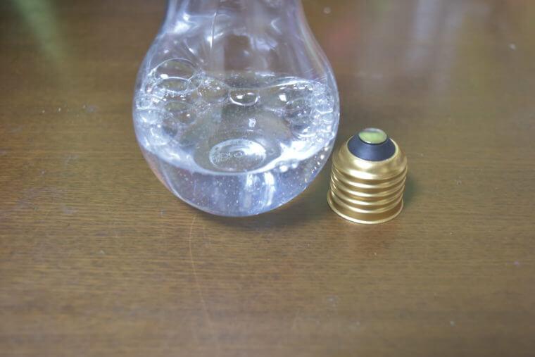 電球スノードームの作り方