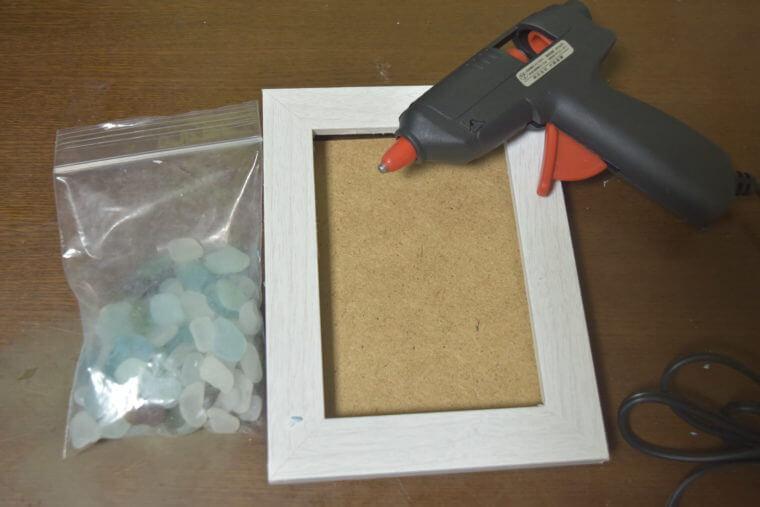 シーグラスフォトフレームの材料で用意するもの