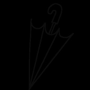 閉じた傘のボールペンイラストのおしゃれな描き方