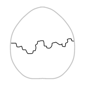 ゆで卵のボールペンイラストのかわいい書き方