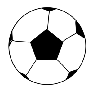 サッカーボールのボールペンイラストのかっこいい書き方