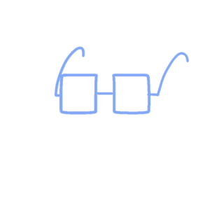 ボールペンイラストのメガネのおしゃれな書き方