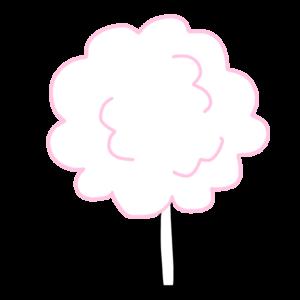 綿菓子のボールペンイラストのかわいい書き方