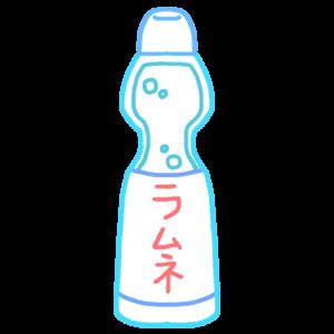 ラムネ(飲み物)のボールペンイラストのかわいい書き方