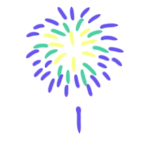 打ち上げ花火のボールペンイラストのかわいい書き方